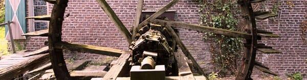 Altes Wasserrad der Leuther-Mühle